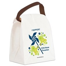 Child Abuse Prevention Canvas Lunch Bag