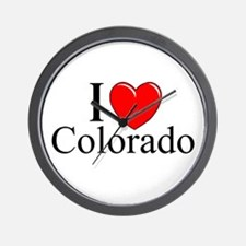 """I Love Colorado"" Wall Clock"
