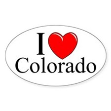 """I Love Colorado"" Oval Decal"