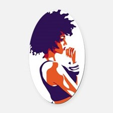 The Thinker Oval Car Magnet