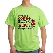 Give Me Coffee And Wine Humor T-Shirt