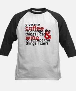 Give Me Coffee And Wine Humor Kids Baseball Jersey