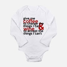 Give Me Coffee And Wine Humor Long Sleeve Infant B