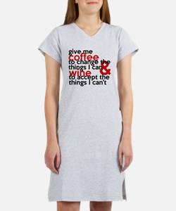Give Me Coffee And Wine Humor Women's Nightshirt