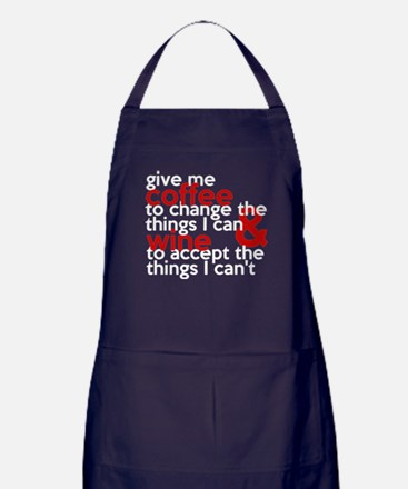 Give Me Coffee And Wine Humor Apron (dark)