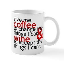 Give Me Coffee And Wine Humor Small Mug