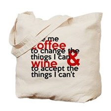Give Me Coffee And Wine Humor Tote Bag