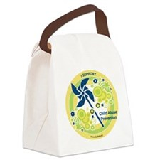 Child Abuse Prevention Yello Canvas Lunch Bag
