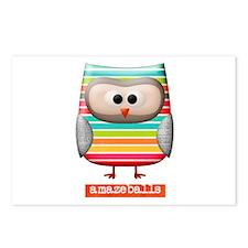 Amazing Amazeballs Striped Owl Postcards (Package