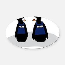 penguincolour copy Oval Car Magnet