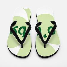obaby shamrock_dark Flip Flops