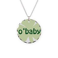 obaby shamrock_dark Necklace Circle Charm