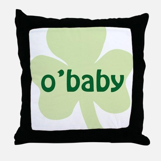 obaby shamrock_dark Throw Pillow