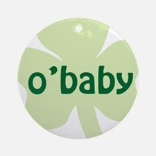 obaby shamrock_dark Round Ornament