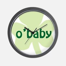 obaby shamrock_dark Wall Clock