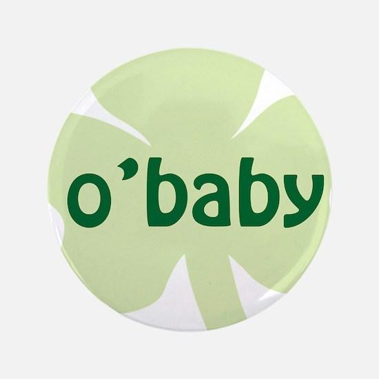 """obaby shamrock_dark 3.5"""" Button"""