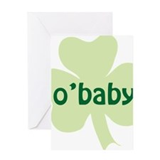 obaby shamrock_dark Greeting Card