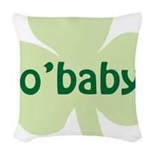 obaby shamrock_dark Woven Throw Pillow