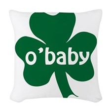 obaby shamrock Woven Throw Pillow