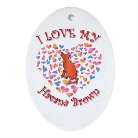Love My Havana Oval Ornament