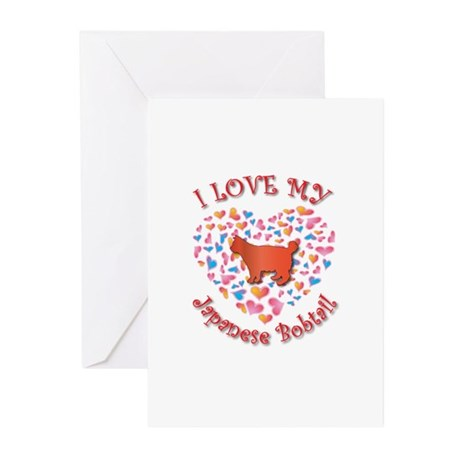 Love My Bobtail Greeting Cards (Pk of 10)