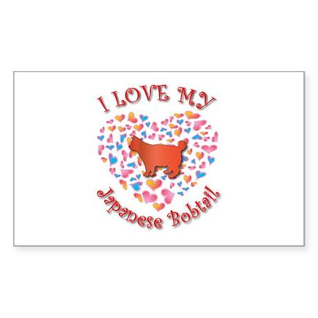 Love My Bobtail Rectangle Sticker