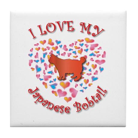 Love My Bobtail Tile Coaster