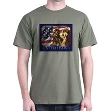 Scottish Deerhound USA Flag Dark Colored T-Shirt