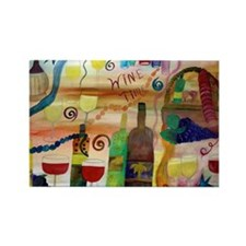 WINE TIME Rectangle Magnet