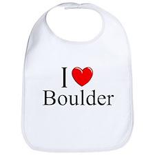 """I Love Boulder"" Bib"