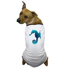 Aqua Seahorse Dog T-Shirt