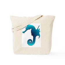 Aqua Seahorse Tote Bag