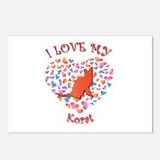 Love My Korat Postcards (Package of 8)