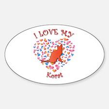 Love My Korat Oval Decal