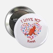 """Love My Korat 2.25"""" Button (100 pack)"""