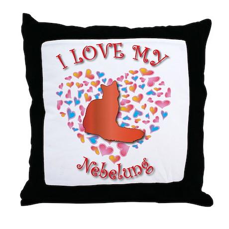 Love My Nebelung Throw Pillow