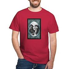 Scottish Deerhound Designer Dark Colored T-Shirt