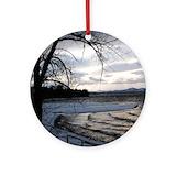 Lake champlain Round Ornaments