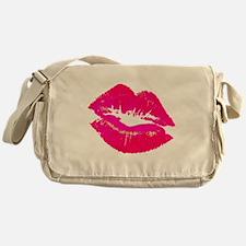 lipsshirtwhite.gif Messenger Bag