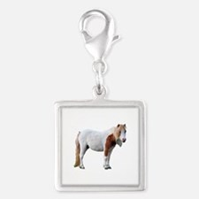 Filly Cutout Silver Square Charm