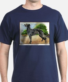 Scottish Deerhound Painting Dark Colored T-Shirt