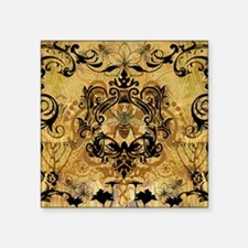 """PRINTS - BEE floral Square Sticker 3"""" x 3"""""""