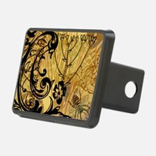 PRINTS - BEE floral Hitch Cover