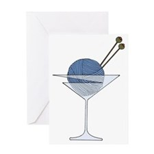 Yarn Cocktail Greeting Card