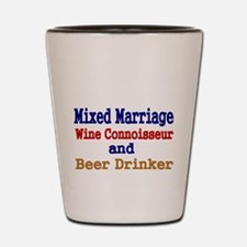 Mixed Marriage. Wine Connoisseur and Beer Drinker