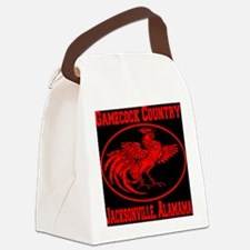gamecock_country_ellipse_red_blac Canvas Lunch Bag