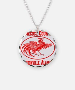 gamecock_country_ellipse_red Necklace