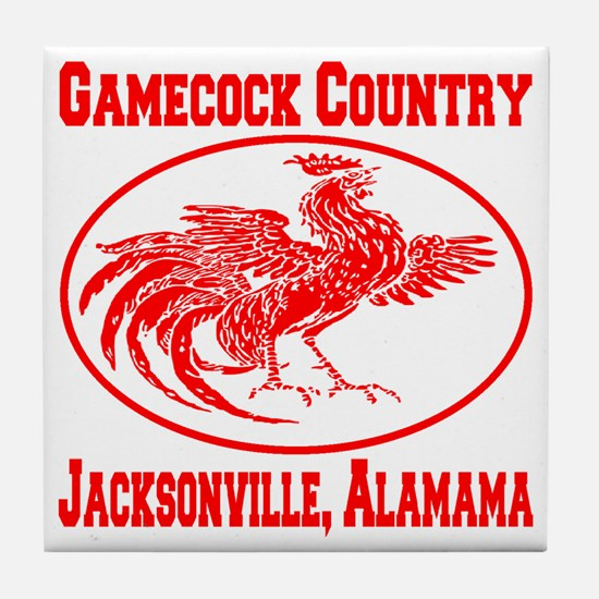 gamecock_country_ellipse_red Tile Coaster