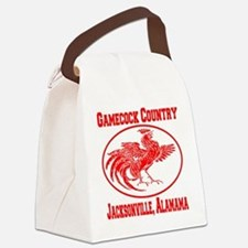 gamecock_country_ellipse_red Canvas Lunch Bag