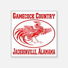 "gamecock_country_ellipse_re Square Sticker 3"" x 3"""